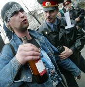 ...прохожего за распитие спиртных напитков во время проведения митинга в...